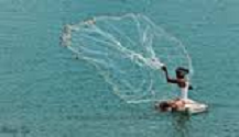 a young woman casting a net into the ocean referencing being spiritual